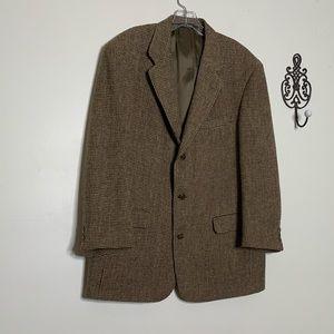 VTG Harris Tweed Scottish Wool Sport Coat Sz 46
